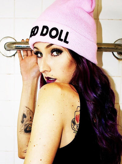 Inked Doll Knit Beanie by Inked