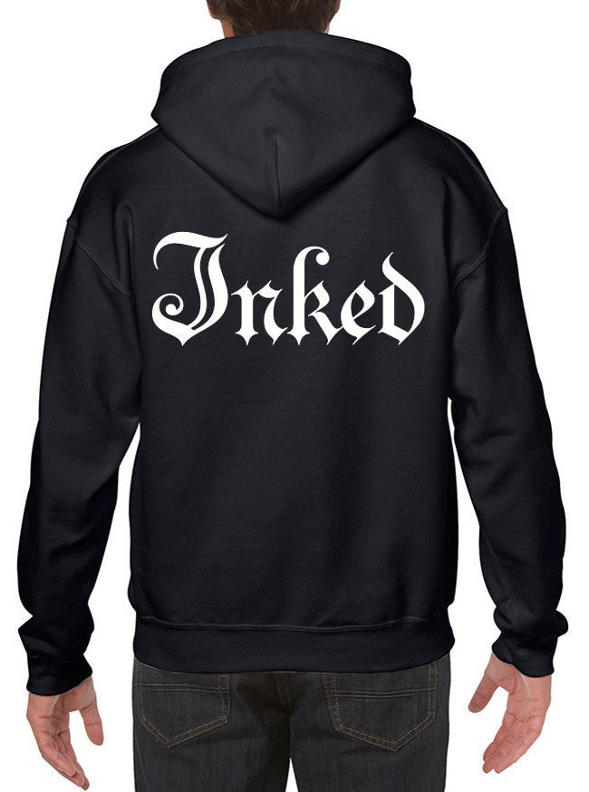 "Men's ""Inked Logo"" Zip-Up Hoodie by Inked (Black) - www.inkedshop.com"