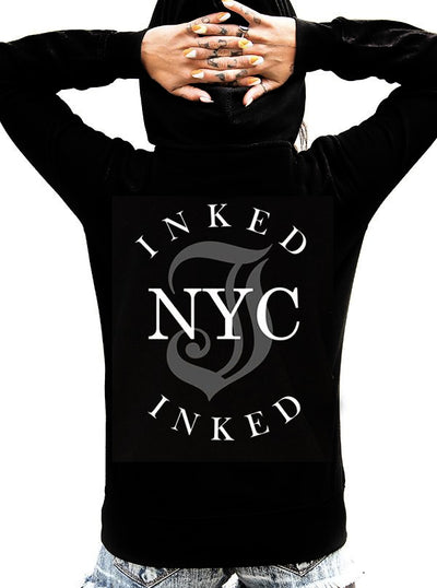 "Unisex ""Inked NYC"" Zip Up Hoodie by Inked (More Options)"