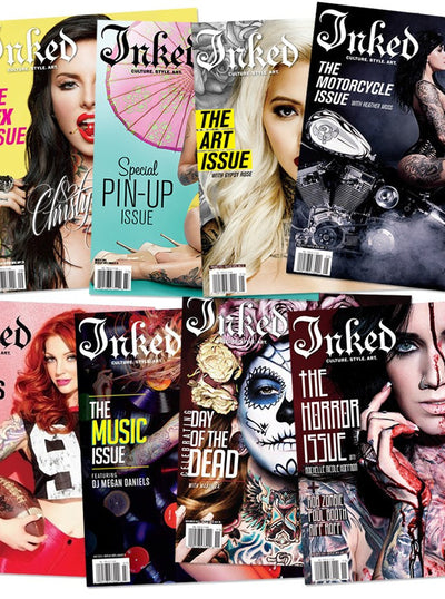 Year Subscription to Inked Magazine - www.inkedshop.com