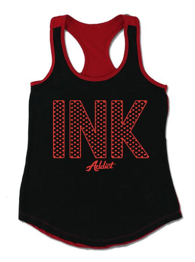 Women's Ink Hearts Colorblock Tank by InkAddict