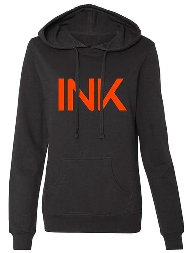 Women's INK Orange Hoodie by InkAddict