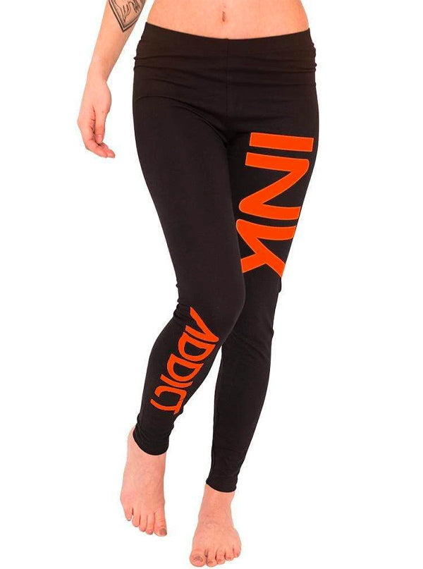 Women's Ink Orange Leggings by InkAddict