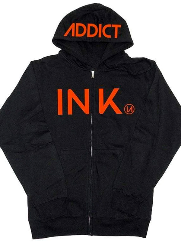 Men's INK Orange Hoodie by InkAddict