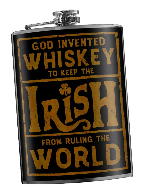 Irish Rule The World Flask by Trixie & Milo