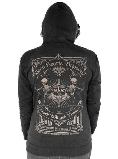 "Women's ""Iron Hearts Brigade"" Hoodie by Serpentine Clothing (Black) - www.inkedshop.com"