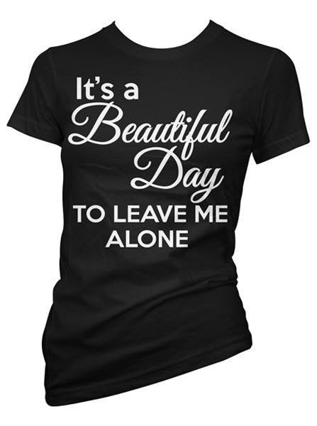 "Women's ""It's a Beautiful Day"" Tee by Pinky Star (Black) - www.inkedshop.com"