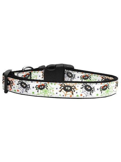 """Itsy Bitsy Spiders"" Collar by Mirage Pet Products (White) - www.inkedshop.com"