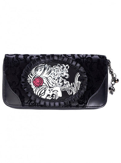 "Women's ""Ivy Cameo Lady Lace"" Wallet by Banned Apparel (Black) - www.inkedshop.com"