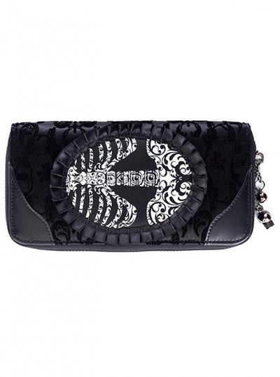 "Women's ""Ivy Ribcage Lace"" Wallet by Banned Apparel (Black) - www.inkedshop.com"