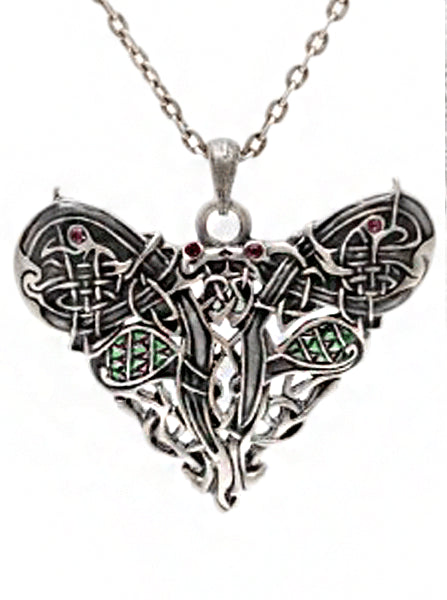 Dragon heart necklace celtic heart necklace celtic dragon heart necklace by pacific trading inkedshop mozeypictures Gallery