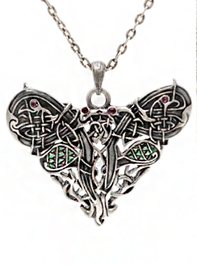 """Celtic Dragon Heart"" Necklace by Pacific Trading - www.inkedshop.com"