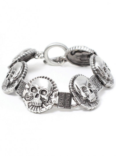 """Skull Coin"" Bracelet by Pacific Trading - www.inkedshop.com"