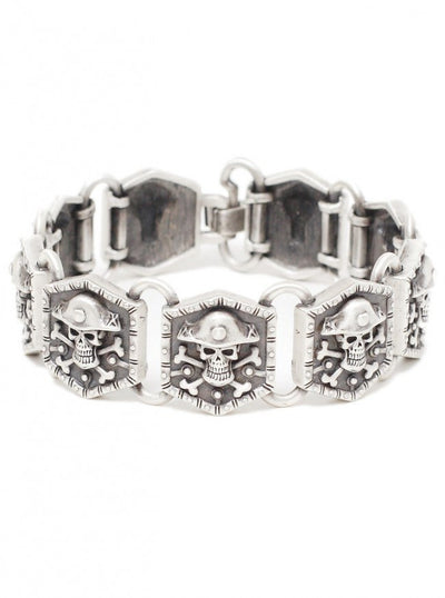 """Pirate Skull"" Bracelet by Pacific Trading - www.inkedshop.com"