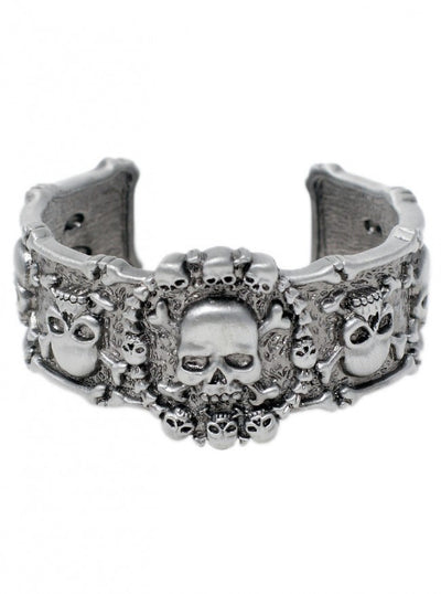 """Skull And Crossbones"" Bracelet by Pacific Trading - www.inkedshop.com"