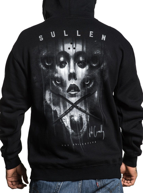 Men's Jak Connolly Zip Hoodie by Sullen (Black)