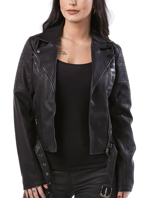 Women's Goriana Perfecto Vegan Leather Jacket by Headrush Brand
