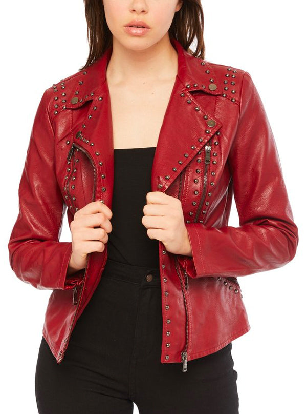 "Women's ""Open Road"" Moto Jacket by Pretty Attitude Clothing (More Options)"
