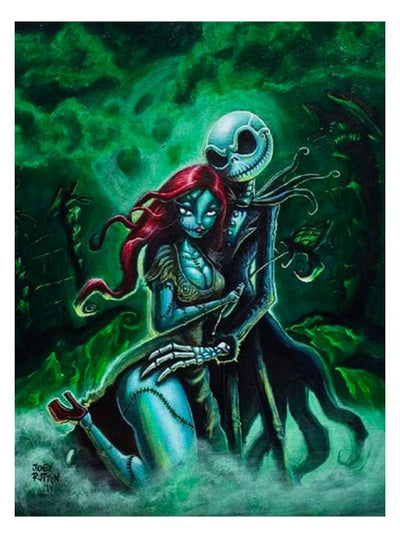 Jack & Sally Print by Joey Rotten for Lowbrow Art Company