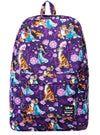 """Jasmine & Raja"" Floral Backpack by Loungefly (Purple)"