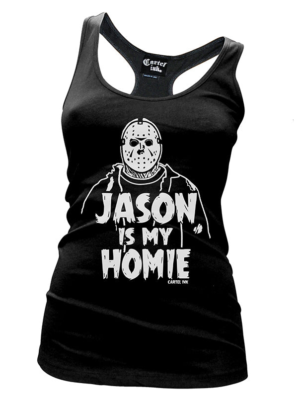 Women's Jason Is My Homie Racerback Tank by Cartel Ink