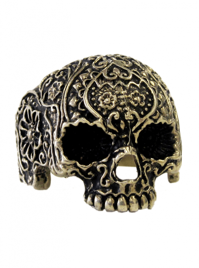 """Jawless Skull Flower"" Ring by Lor G Jewellery - www.inkedshop.com"