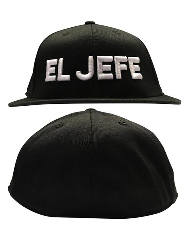 El Jefe Flat Bill Flex Fit Hat by Cartel Ink