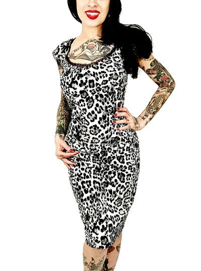 Women's Leopard Josie Dress by Switchblade Stiletto