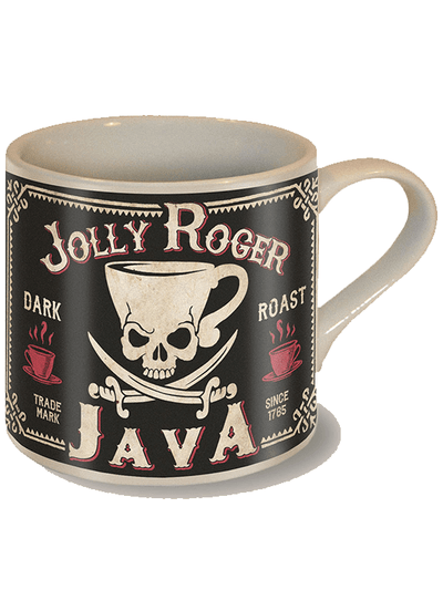 """Jolly Roger"" Coffee Mug by Trixie & Milo - www.inkedshop.com"