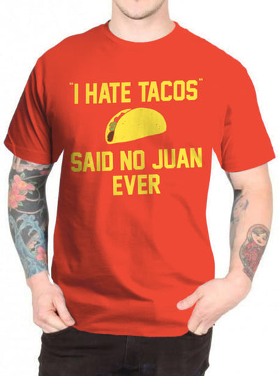 Men's I Hate Tacos' Tee by Goodie Two Sleeves