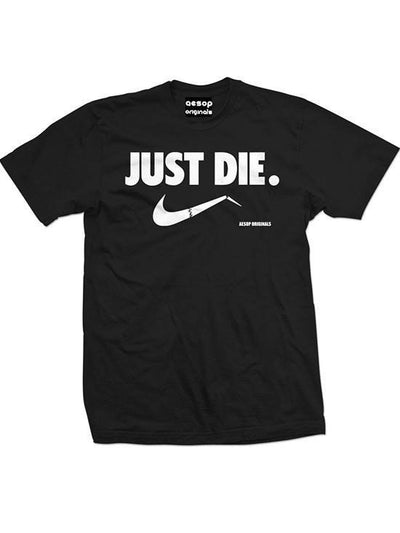 "Men's ""Just Die"" Tee by Aesop Originals (Black) - www.inkedshop.com"