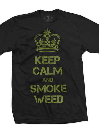 Men's Keep Calm Tee by 7th Revolution (Black)