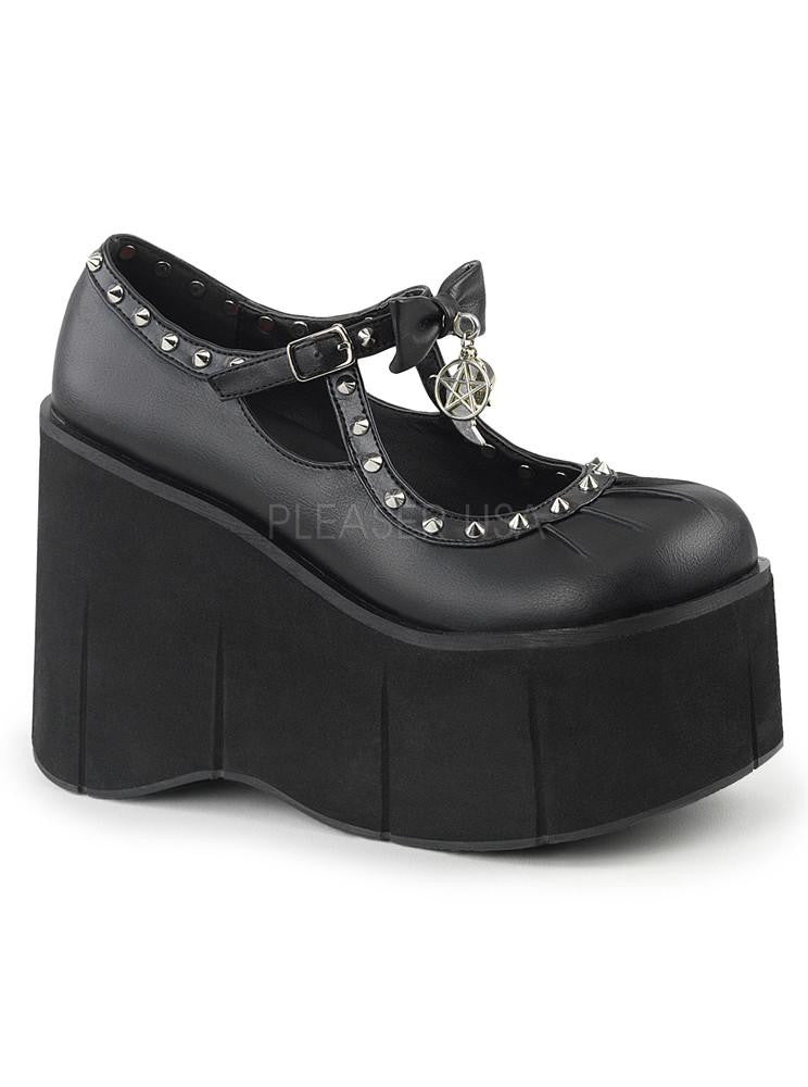 Women's Kera-14 Vegan Leather Platform by Demonia
