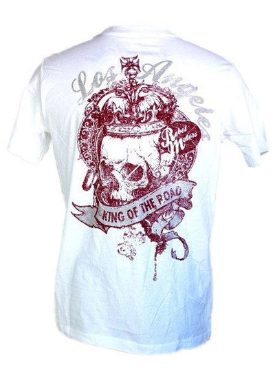 "Men's ""King"" Tee by LA Rebel (White) - InkedShop - 3"