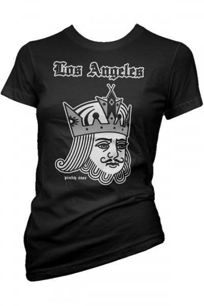 "Women's ""The Card King"" Tee by Pinky Star (Black) - InkedShop - 1"