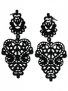 Lace Lolita Earrings by Kitsch 'n' Kouture (Black) - www.inkedshop.com