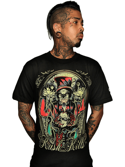 "Men's ""Master of Puppets"" Tee by Kush Kills Clothing (Black) - www.inkedshop.com"