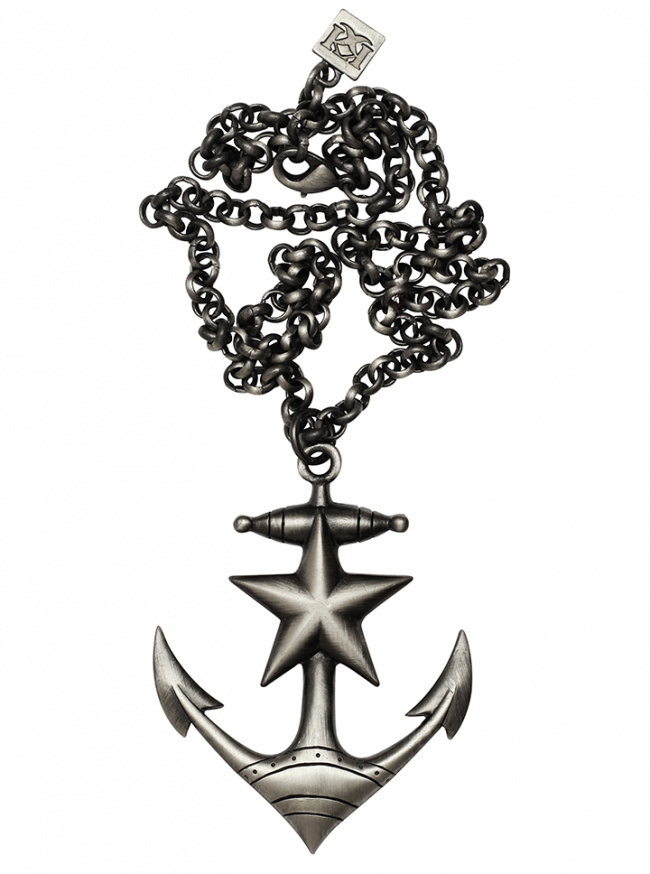 Anchors Away Necklace by Kitsch 'n' Kouture (Gun Metal) - www.inkedshop.com