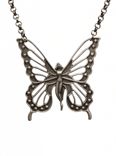 Flygirl Necklace by Kitsch 'n' Kouture (Gun Metal) - www.inkedshop.com
