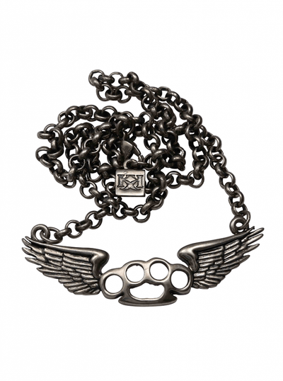 Flying Knux Necklace by Kitsch 'n' Kouture (Gun Metal) - InkedShop - 2