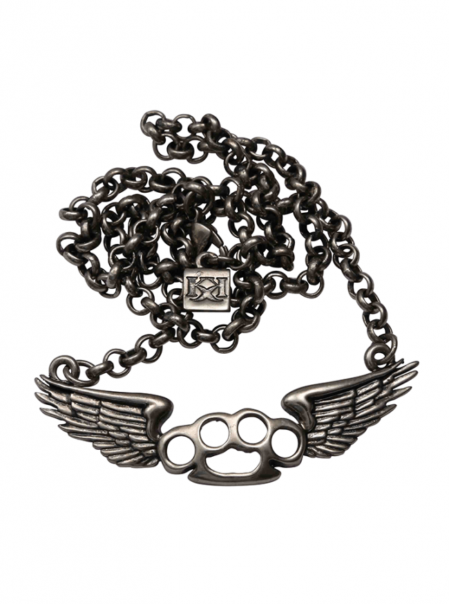 Flying Knux Necklace by Kitsch 'n' Kouture (Gun Metal) - InkedShop - 1