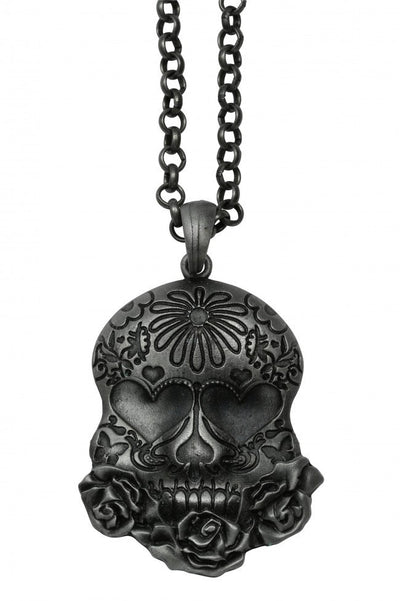 Sugar Skull Necklace by Kitsch 'n' Kouture - InkedShop - 1