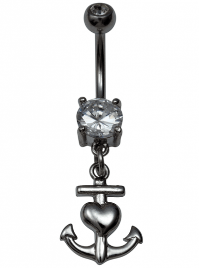 Love Anchor Naval Jewelry by Kitsch 'n' Kouture (Silver) - www.inkedshop.com