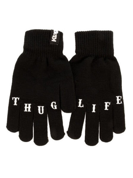 """Thug Life"" Knit Gloves by Ktag Clothing (Black) - www.inkedshop.com"