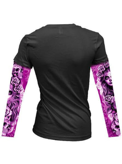 "Women's ""My Nightmare"" Tattoo Sleeve Tee by Lethal Angel (Black) - www.inkedshop.com"