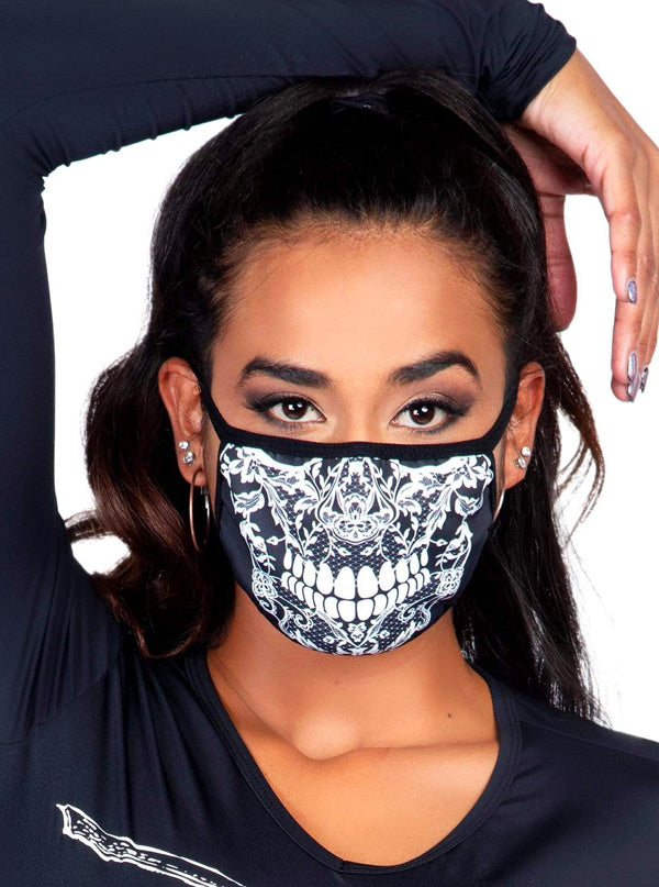 Lace Skull Face Mask by Leg Avenue