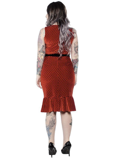 "Women's ""Ladybug"" Wiggle Dress by Sourpuss (Red)"
