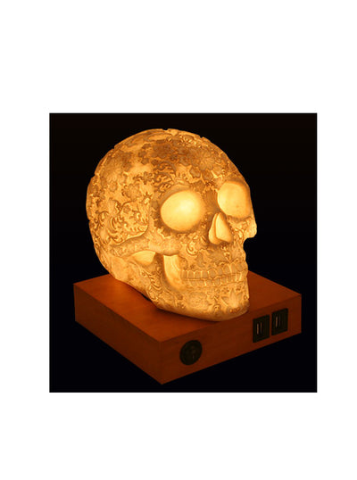 Floral Skull Lamp by Summit Collection