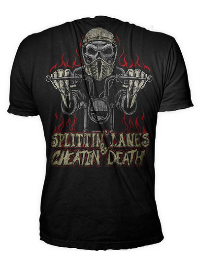 "Men's ""Splitting Lanes"" Tee by Lethal Threat (Black)"