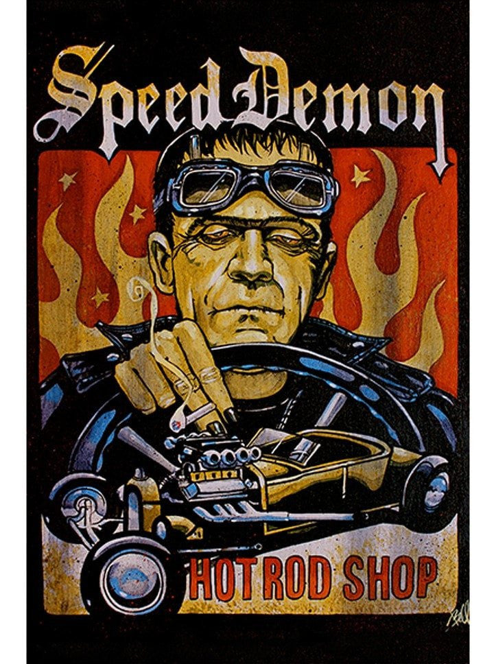 """Speed Demon"" Print by Mike Bell for Black Market Art - www.inkedshop.com"